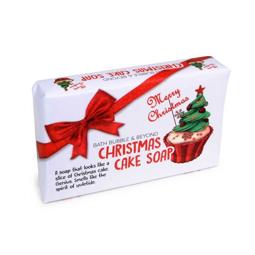Christmas Cake Glycerin Soap Slice - Bath Bubble & Beyond 120g